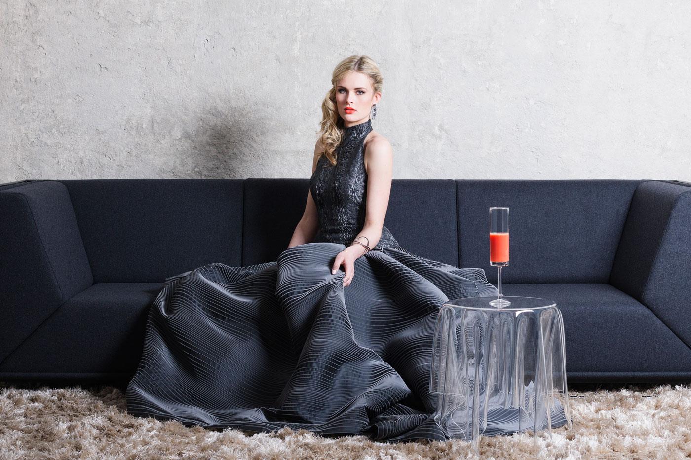 Titelshooting für die Fashion meets Furniture