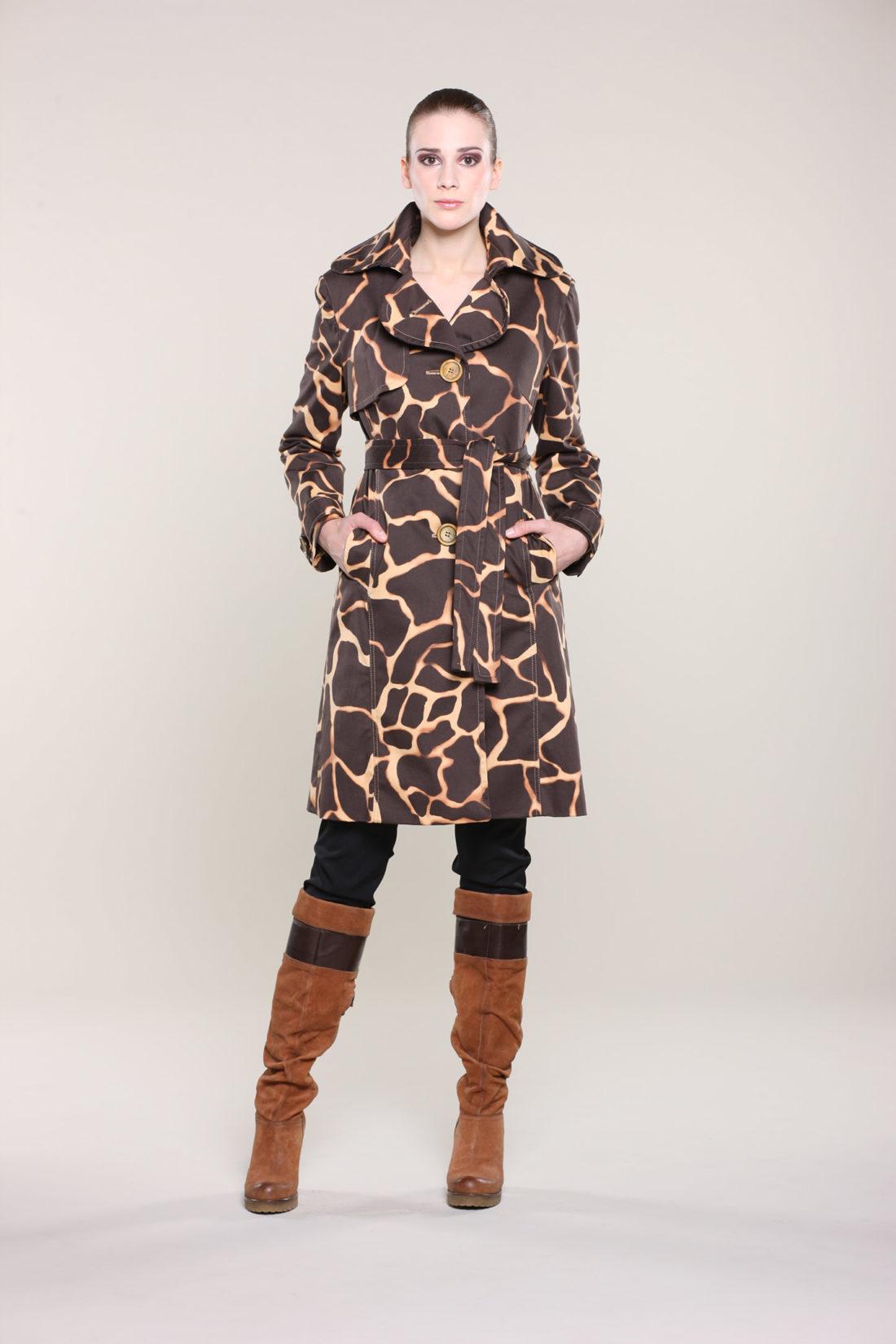 handgemachter Mantel mit Zebra-Muster aus Köln