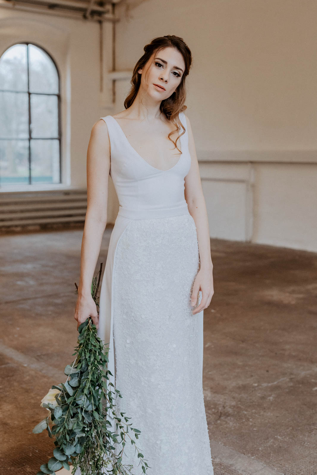 zweiteliges Brautkleid
