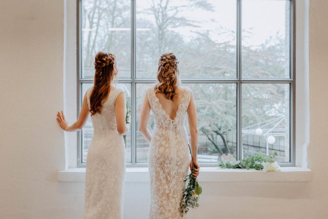 Brautmodenshooting in der Orangerie