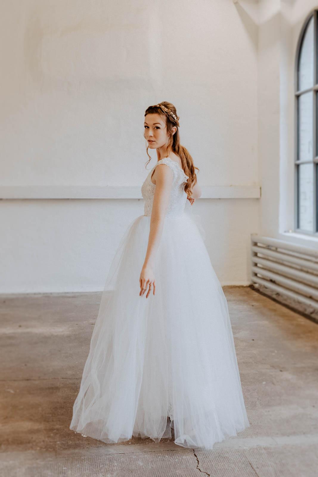 Brautkleid mit Tüll